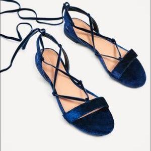 Zara laceup sandals